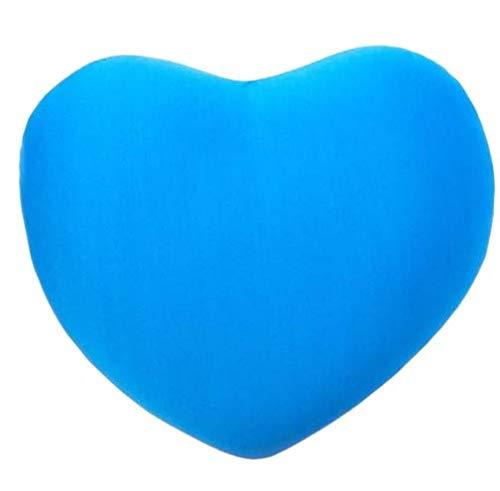 ML Cojin Corazón De Licra Antiestrés 45Cm. Cojin Antiestres Relax Relleno DE Bolitas (Azul)