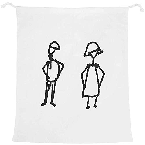 Azeeda 'Man & Woman' Laundry/Washing/Storage Bag (LB00016741)