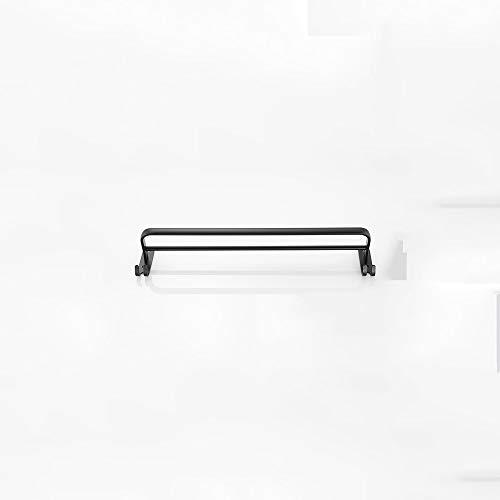 LYMJJ De Toallas de Toallas de Pared, baño de Aluminio Negro toallero Pista Mate Negro de Toallas