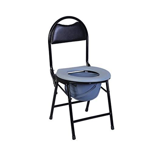 Nuitab zwarte douchestoel verrijdbare toiletstoel badkamer nacht douche antislip lichte zwangere vrouwen oudere mensen met een handicap camping klimmen outdoor activiteit