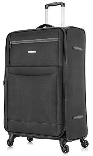 Starlite Luggage Lightweight WLS08 Medium 24' Suitcases 4 Wheel Spinner (Medium, Black)