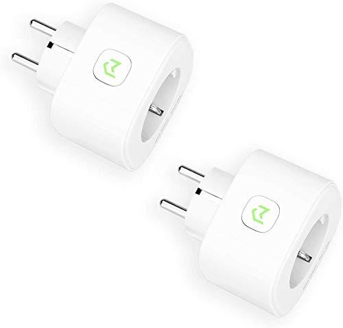 Enchufe Inteligente, Mide el Consumo 16A 3680W Wi-Fi Smart Plug, con Control Remoto Meross App. Compatible con Alexa, Google Assistant y SmartThings. Paquete de 2.