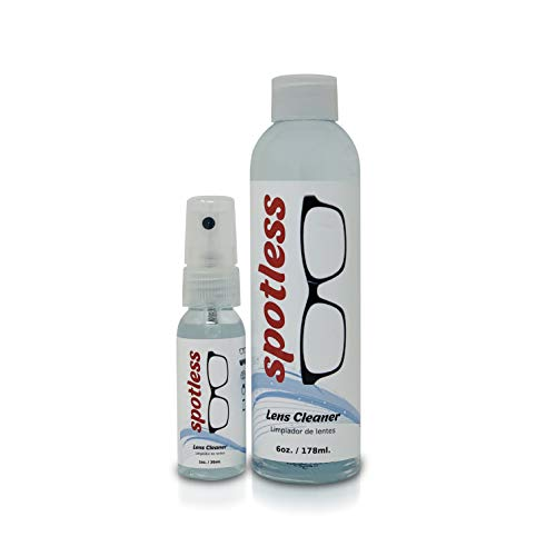 Spotless Lens Cleaner Spray - 1 oz Cleaning Spray & 6 oz Refill Bottle | Safe to clean coated lenses and Blue Light blocker Eyeglasses (Pack of 1)
