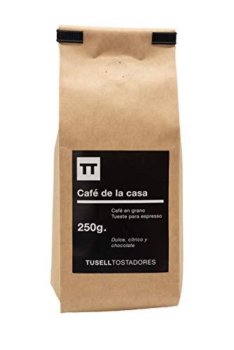 Cafe en grano natural 250g arabica 100 {ef25ad568ae1fc3ec432a2c524414f8fc4ac784775d6db1f5fa4b3e06175a5d7} - Espresso - Cafe de la Casa - Tusell Tostadores