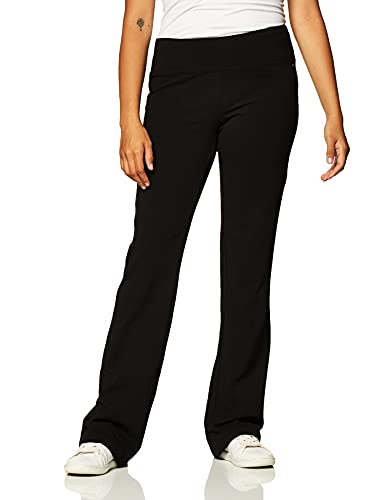 Jockey womens Slim Bootleg Yoga Pants, Deep Black, X-Large US
