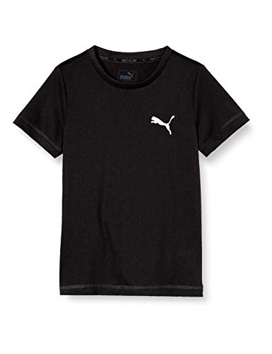 PUMA Jungen Active Tee B T-shirt, Black, 176