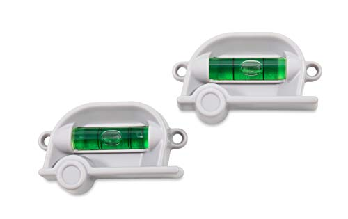 Camco Retro RV Level, 2 Pack - Provides Front-to-Back or Side-to-Side Leveling of Your RV - Can be Screw-Mounted or Mounted with The Provided Double-Sided Foam Tape - Includes (2) Levels (25520)