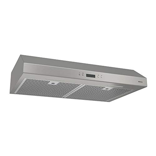 Broan-NuTone BCDJ142SS Glacier Range Hood with Light Exhaust Fan for Under Cabinet, 0.6 Sones, 400 CFM, 42-Inch, Stainless Steel