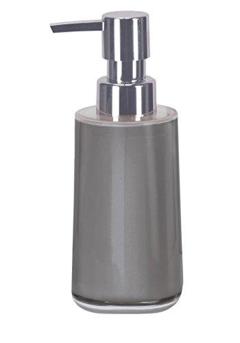 Kleine Wolke 5841977854 Seifenspender Mable, Plastik, 6,5 x 6,5 x 17,10 cm, Platin