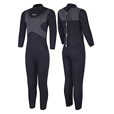 Hevto X Wetsuits Kids and Youth 3mm Neoprene Full Suits Long Sleeve Surfing Swimming Diving Swimsuits (X-Kids Gary, 4)