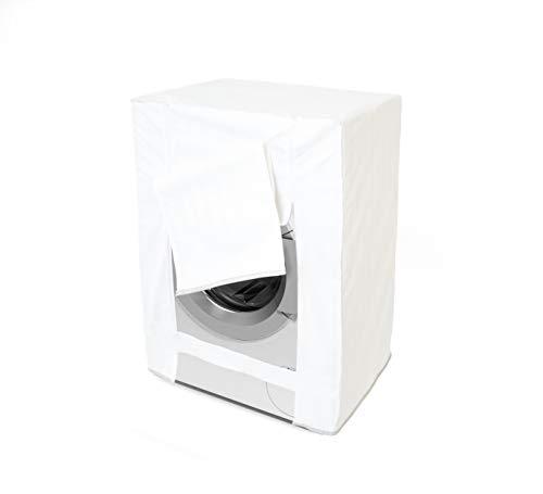 GEMITEX Coprilavatrice Impermeabile E Antimacchia Gemma con Cerniera Misura, Bianco, per Rivestire Proteggere E Mascherare La Lavatrice, 80 x 60 x 60 cm, Multicolore