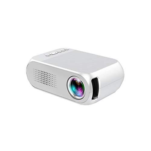 CNAJOI-TDFY LED Smart Projector, 1080P Mini-Videoprojektor Tragbare eingebaute Lautsprecher 30000 Stunden Heimkino-Unterstützung HD 1080P, kompatibel mit HDMI/USB/VGA/SD
