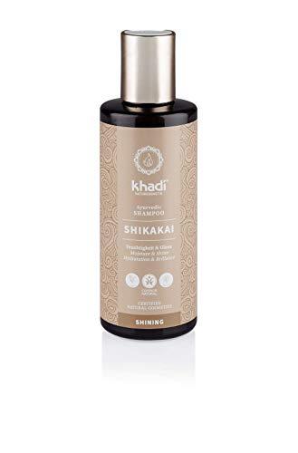 khadi Ayurvedisches Shampoo Shikakai 210ml I natürliches Haarshampoo für jedes Haar und jeden Tag I 100% pflanzlich