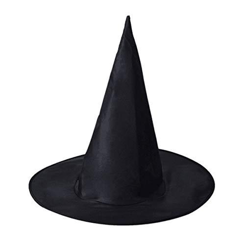 Cosplay Hat Adult Witch Cone Hat Wizard Hat Vestido de Disfraz Cosplay Halloween Fancy Dress Decor One Size