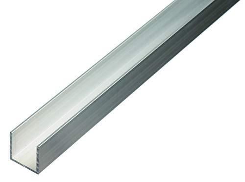GAH-Alberts 474485 U-Profil   Aluminium, natur   1000 x 20 x 20 mm