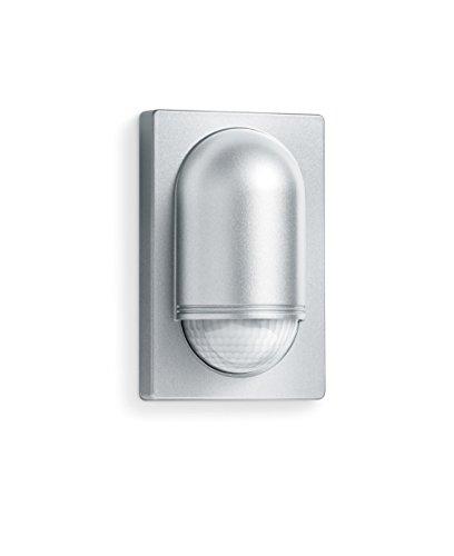 Steinel Bewegungsmelder IS 2180-5 silber, 180°|20 m Sensor, Dauerlicht, 1000 W, Unterkriechschutz, inkl. Eckwandhalter