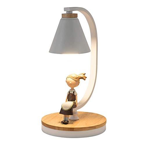 SPNEC Lámpara de Mesa - Lámpara de mesilla de Noche Simple, Moderna y Creativa Lámpara de Mesa cálida Luz de Noche Decoración de Sala de Estar Hogar (Color : White)