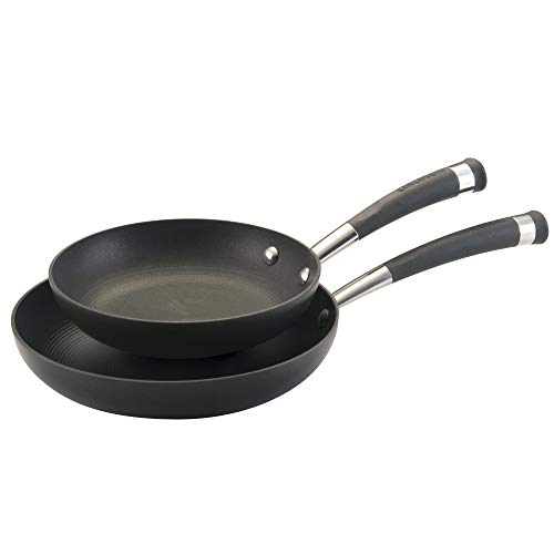 Circulon 82552 Espree Hard Anodized Nonstick Fry Pan Skillet Set, 8 Inch and 10 Inch, Black