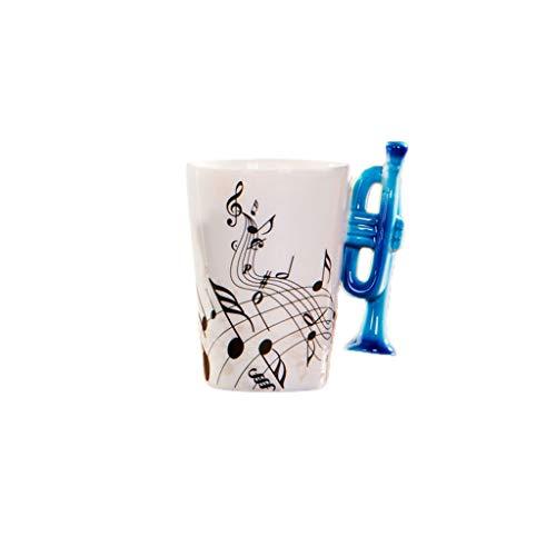 Viesky keramische trompet muziek Cup mok geschenken blauwe trompet mok muziek noot koffie mokken 1