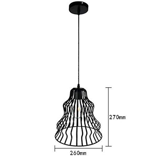 Somnrchun Plafondlamp, industrieel vintage design, hanglamp met E27-fitting, voor woonkamer, slaapkamer en eetkamer