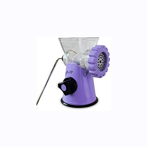 XLEVE Manual Meat Grinder-Manual Meat Grinder Multi-functional Mincer, with Powerful Suction Base, Make Suasage Ground Beef Hamburgers (Color : Purple)