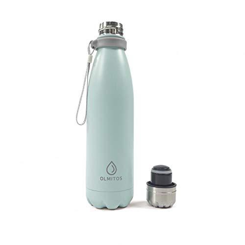 Olmitos - Botella termica inox, 500 ml, color azul