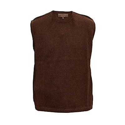 Alpaca Basics Men's Handmade 100% Alpaca Wool Vest (Brown, Small) from