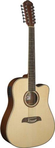 Oscar Schmidt OD312CE-A-U 12-String Acoustic Electric Guitar. Natural