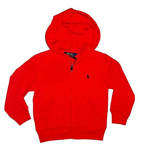 Polo Ralph Lauren Boys Zip Up Hoodie (Red, 4/4T)