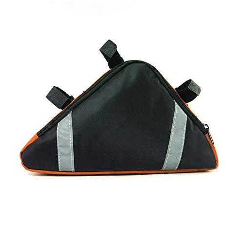 TININNA Sac de rangement pour cadre de vélo - Imperméable - Orange