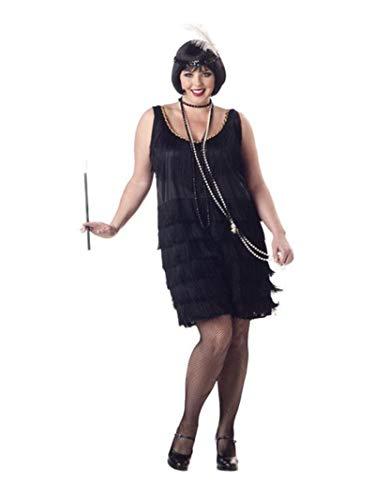 California Costumes Women's Fashion Flapper Plus Size Costume, Black, 2XL (18-20)