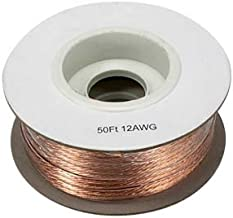 InstallerParts 12AWG 2-Conductor Polarized Copper Speaker Wire (Clear, 50 Feet)