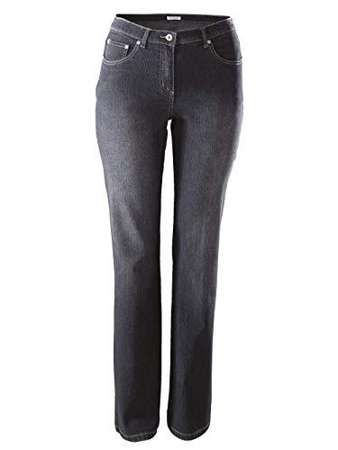 Dollywood Damen Straight Cut Jeans Paula Schwarz 44 Baumwolle