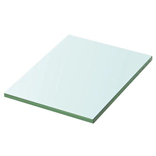 Nishore Ersatzteile Regalboden Glasboden Einlegeboden aus Gehärtetes Glas 20 cm x 15 cm Transparent Tragfähigkeit: 15 kg