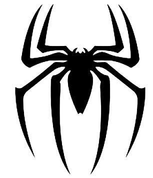 Promenade Graphics Spider Spiderman Vinyl Decal Sticker | Cars | Walls | Laptops | Black | 4.2' X 5.5'