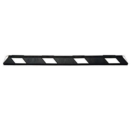 MORAVIA 284.27.586 Radstop, Länge 1800 mm, schwarz/weiß reflektierend