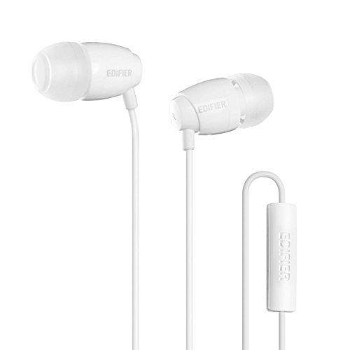 Edifier P210 Auriculares para Computadora In-Ear con Micrófono Cascos para Móvil - con Micrófono - Blanco