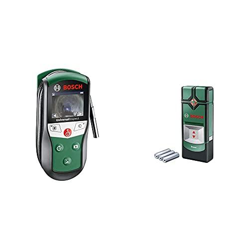 Bosch Inspektionskamera Universalinspec (Kamerakopf-Ø: 8mm, Kabellänge: 0,95 m) & Ortungsgerät Truvo (für Metall & stromführende Leitungen in 70/50 mm Erfassungstiefe; 3x AAA Batterien)