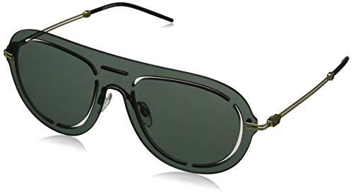 Emporio Armani 0EA2057 Gafas de sol, Light Green Mirror Petroleo, 45 para Hombre
