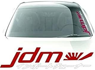 JDM Kanji Windshield Side Decals Window Banners Cars Stickers Graphics Vinyl Die Cut japanese Honda
