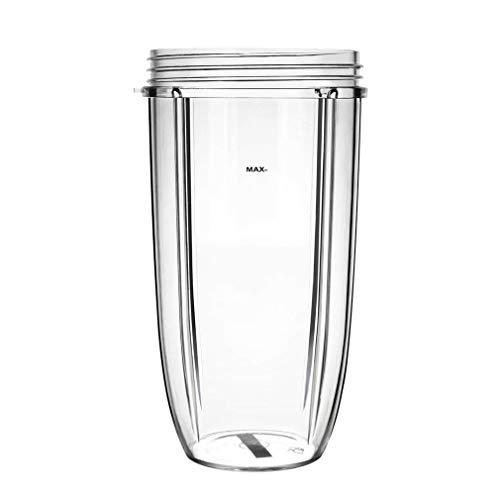 AidShunn Entsafter Cups für NutriBullet Ersatzteile 600w 900W 18OZ 24OZ 32OZ Klare Tassen Mixer Entsafter Mixer-(32OZ)