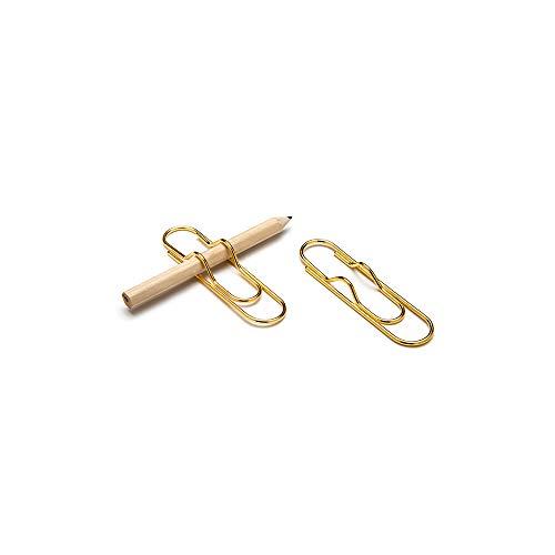 Peleg Design Stifte-Clip für Notizbücher, gold, 7,2 x 1,9 x 0,8 cm