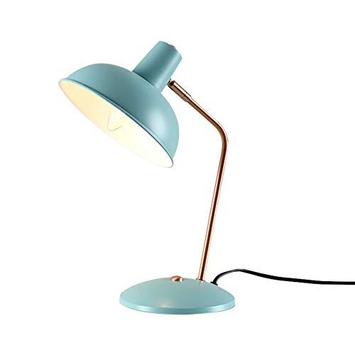 LCZ Postmodern Einfache Tischlampe Kreative Persönlichkeit Eisen Craft Schreibtischleuchten for Studie Augenschutz Wohnzimmer Beleuchtung Lampen,Blau