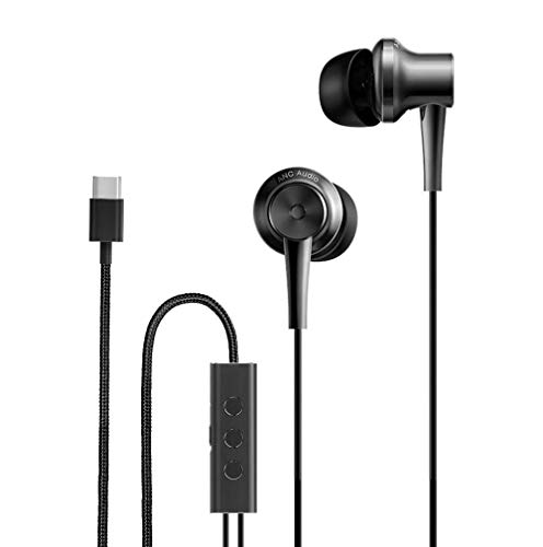 Saikng for xiaomi ANC Earphone Type-C Noise Cancelling Earphone Wired Control with MIC for Xiaomi Max 2 Mi6 Smartphone Hybrid HD