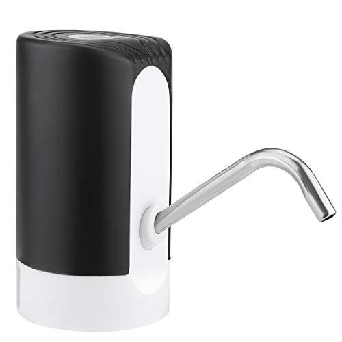 Elektrische Wasserflaschen Pumpe Flaschen Automatische Trinkwasserpumpe Wiederaufladbarer USB-Wasserspender für das Zuhause Büro im Freien (Schwarz)