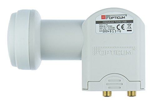 Opticum Twin LNB - LTP-04H - vergulde contacten (Full HD, 3D, Feed-diameter 40)