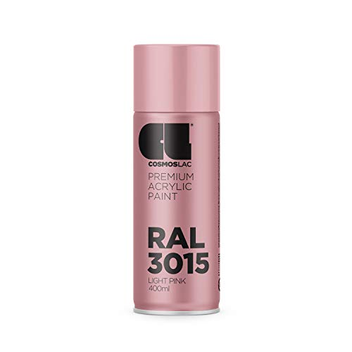 Cosmos LAC Acryllack Sprühdose in vielen RAL Farbtönen - 400ml Spraydose perfekt für DIY, Upcycling und andere Lackierarbeiten geeignet (RAL 3015 - Hellrosa)