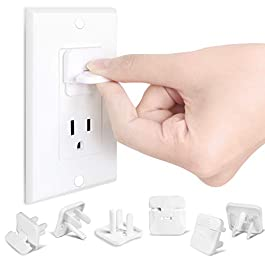 Baby Proofing Outlet Plugs Babepai 38-Pack Clear Child Proof Safety & Secure Electrical Plug Protectors Improved Kids Safety Plug Covers for Home & Office White