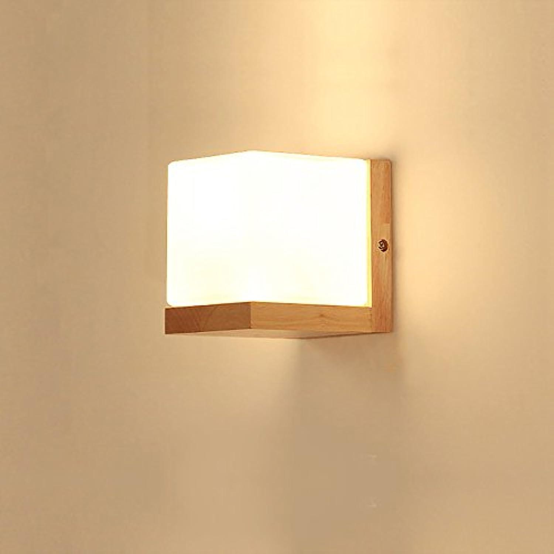 LightSeiEU Holz Nachtlampen Wand Moderne minimalistische Wandleuchte Lampen