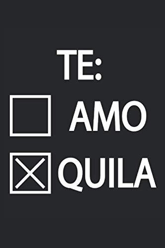 Th Amo Te quila Tequila Salz Zitrone Fiesta Mexiko: Notizbuch - Notizheft - Notizblock - Tagebuch - Planer - Liniert - Liniertes Notizbuch - Linierter ... - 6 x 9 Zoll (15.24 x 22.86 cm) - 120 Seiten